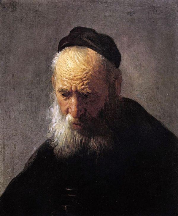 Rembrandt 1628-30 Head Of Man In Cap Oil Oak