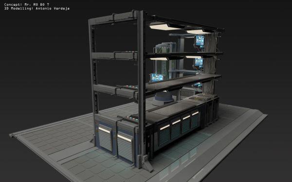 Sci Fi Furniture Concept . Ro Bo T 3d Modelling
