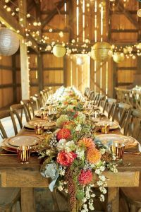 30 Barn Wedding Reception Table Decoration Ideas | Wedding ...