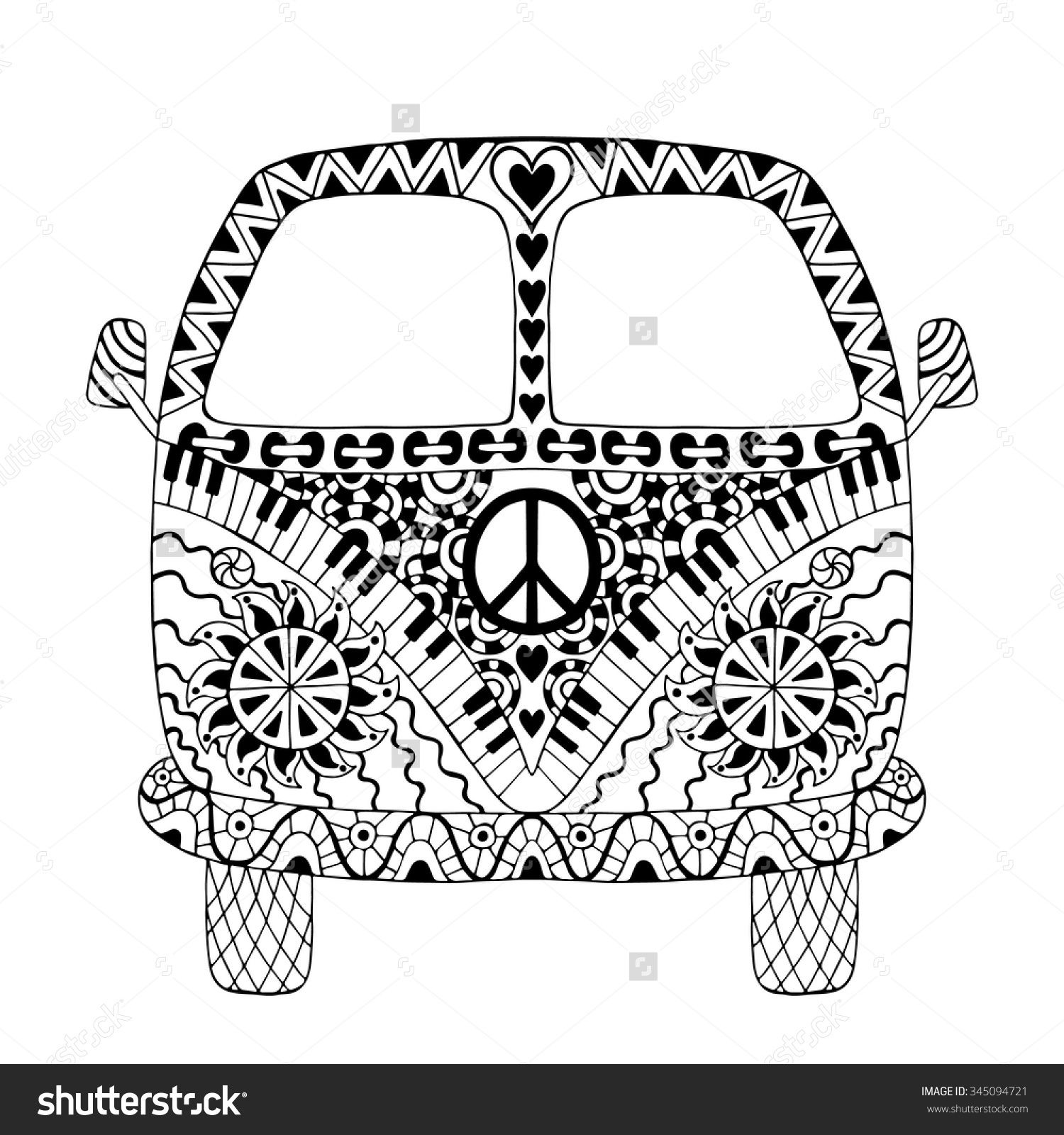 Peace Vw Hippie Van