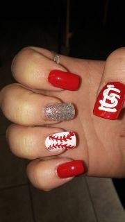 st.louis cardinals nail art nails