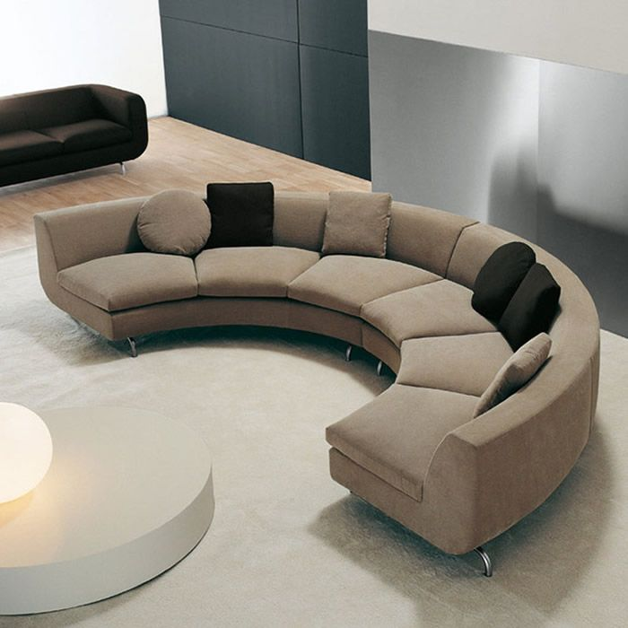 Curved Round Shaped Sectional Sofa 沙發 Pinterest Shape