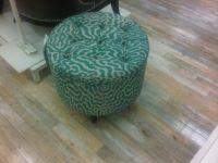 Teal Tufted Ottoman - Homesense | Potential living room ...