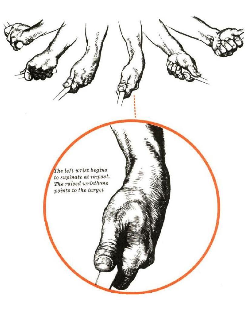 Ben Hogan. Wrist Flexion, Supination and Ulnar Deviation