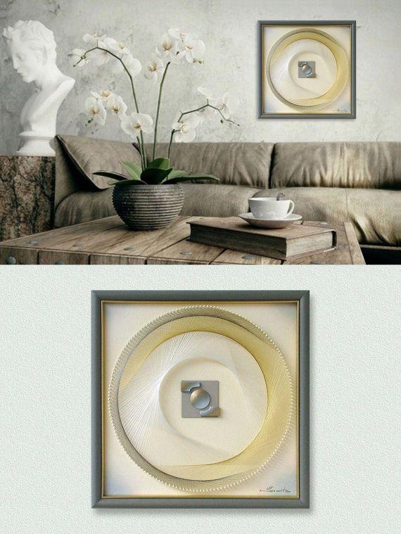 Home wall decor  modern abstract string art by feniksartdeco also set light blue pink rh pinterest