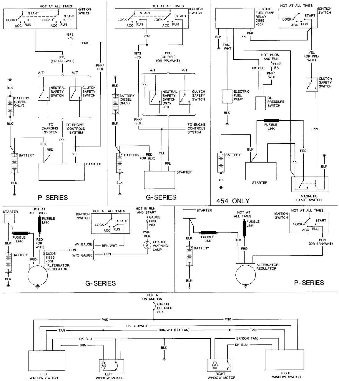 1986 chevy truck starter wiring diagram simplex duct detector 2098 85 van the