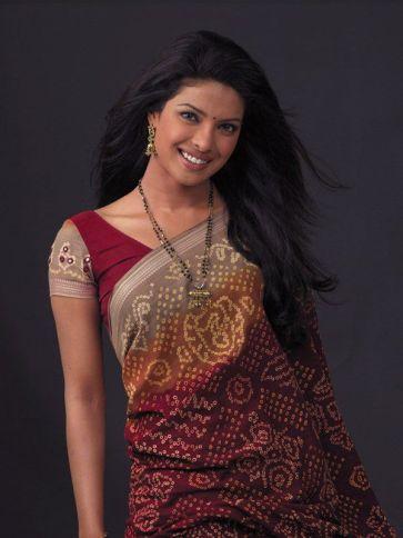 Image result for images of actress wearing Bandhani Saree