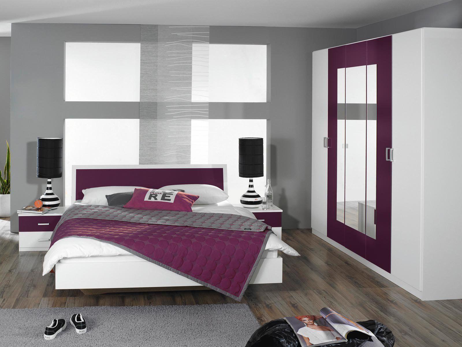 Moderne Chambre Mauve Et Blanc Innovation – Belles Idées de Design ...