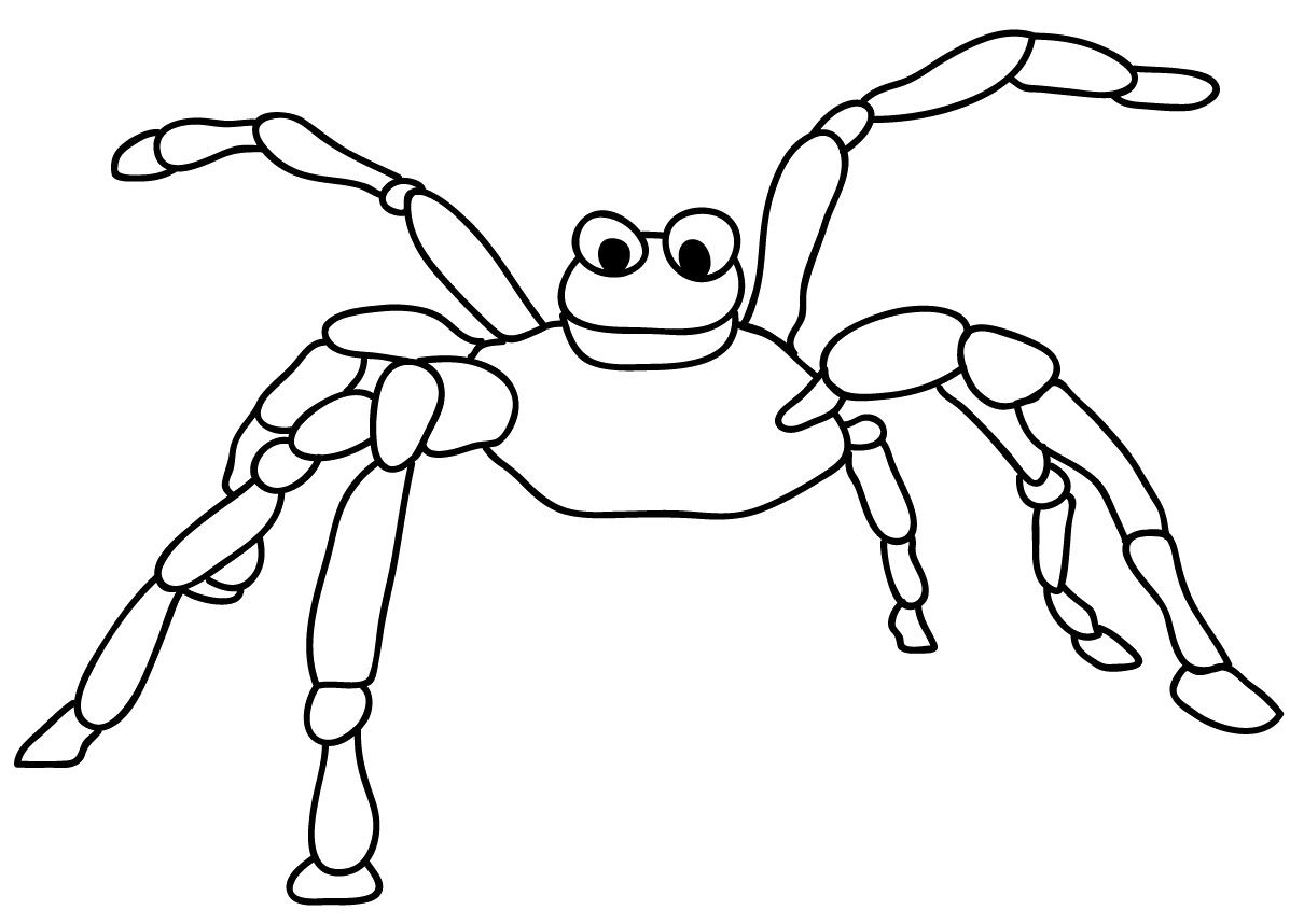 Cute Spider Coloring Page