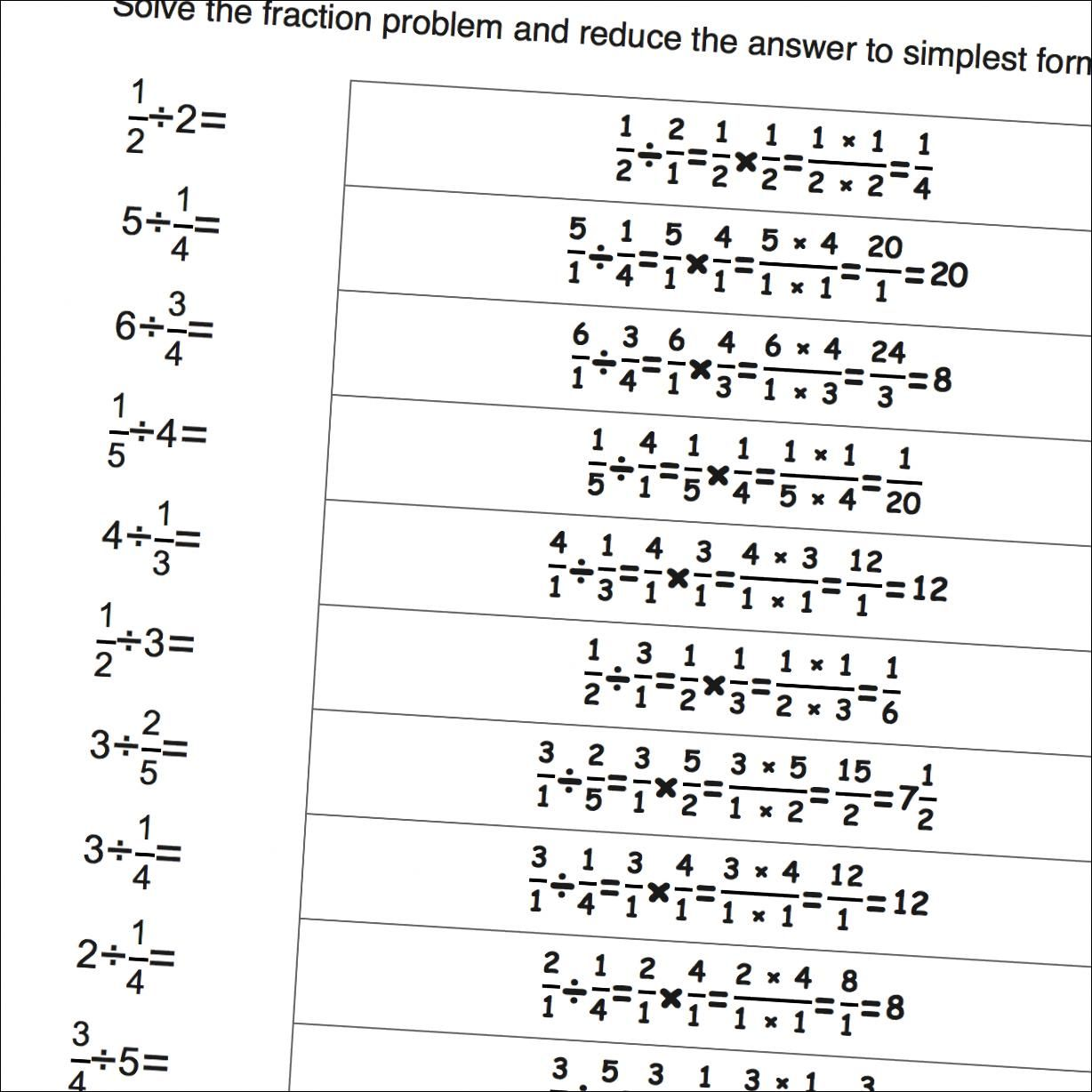 Worksheet Simple Fractions Grass Fedjp Worksheet Study Site