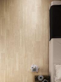 Subtle, limestone plank flooring look with Times Beige ...