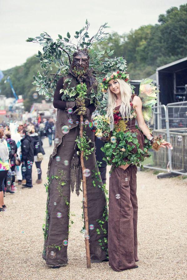 Enchanted Forest. Stilt Walking Fairies Trees And