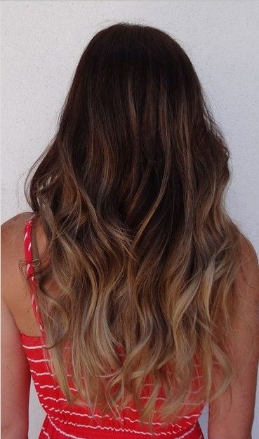 Fantastic Ombre Hairstyles For Long Wavy Hair Dark Ombre Wavy