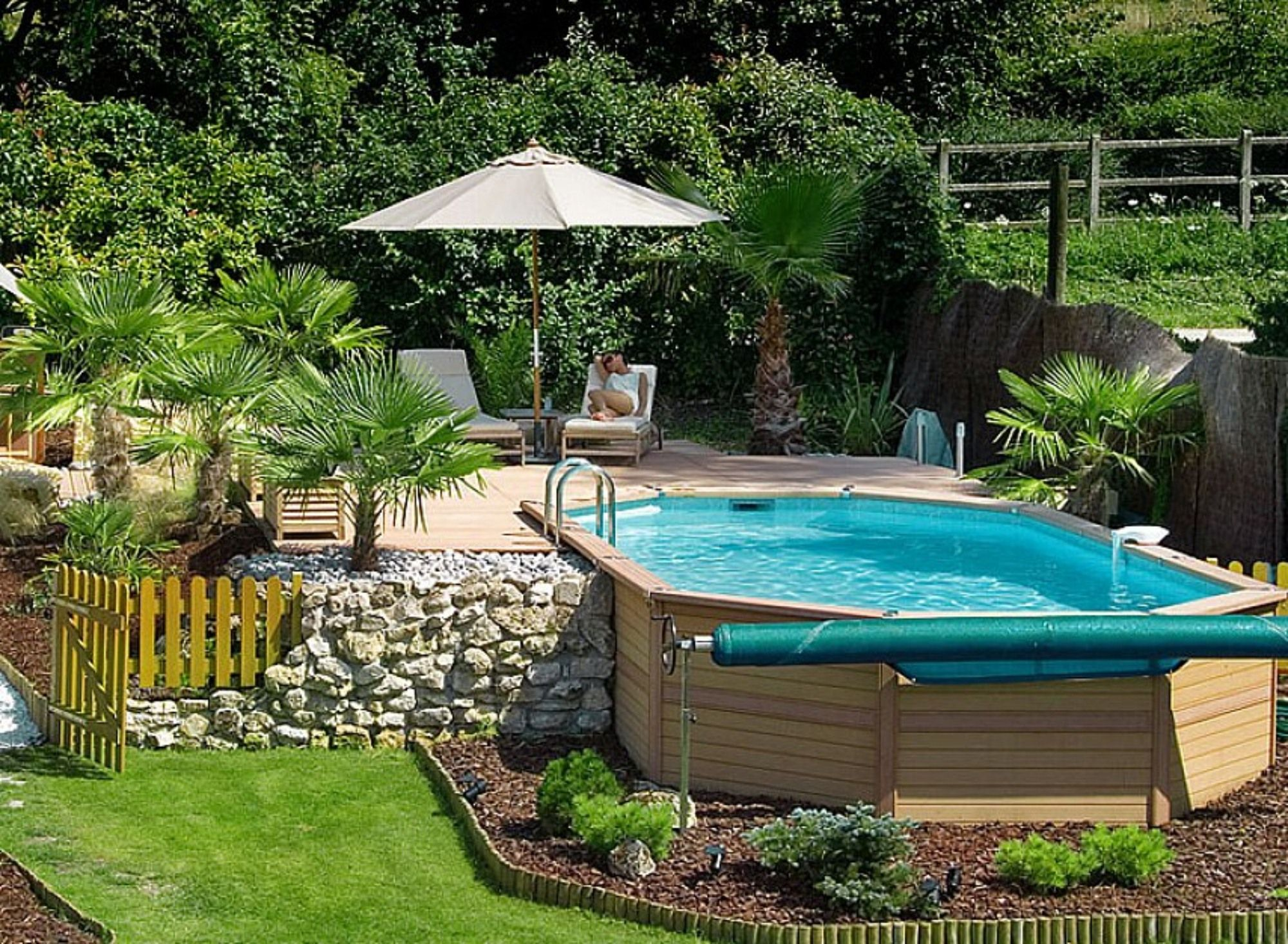 40 Uniquely Awesome Above Ground Pools With Decks Gardens