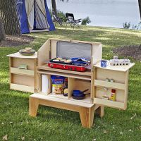 Camp kitchen woodworking plan. Stash all your campground ...