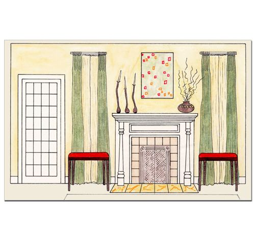 living room elevation sketch  design school 101  Pinterest