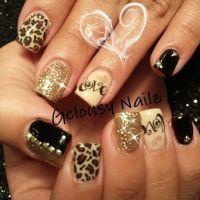 Valentine's Day nail design cheetah love | Nails
