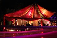 Drape tent/ multi color for Morrocan themed wedding ...