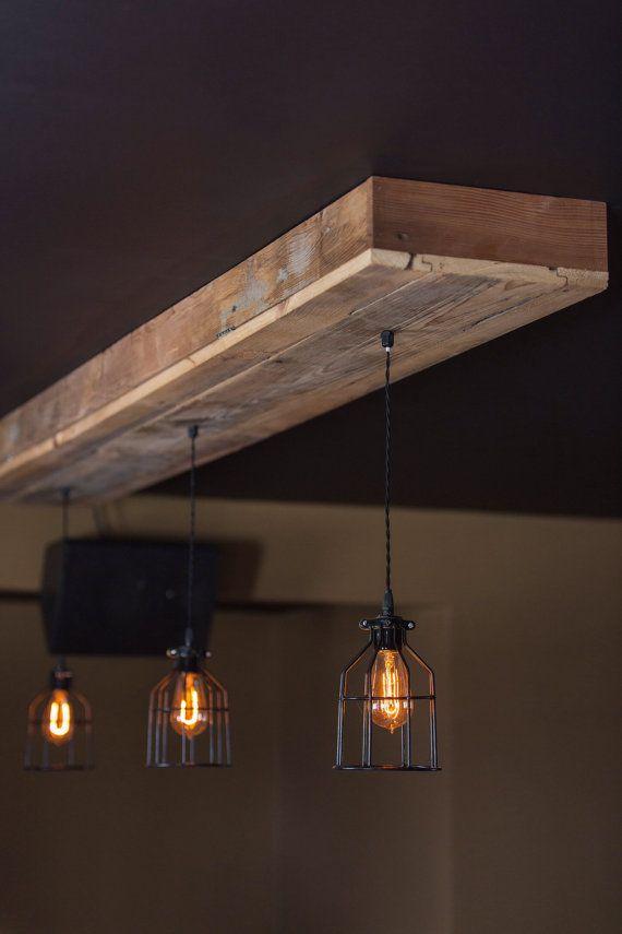 Reclaimed barn wood light fixtures//bar//restaurant //home