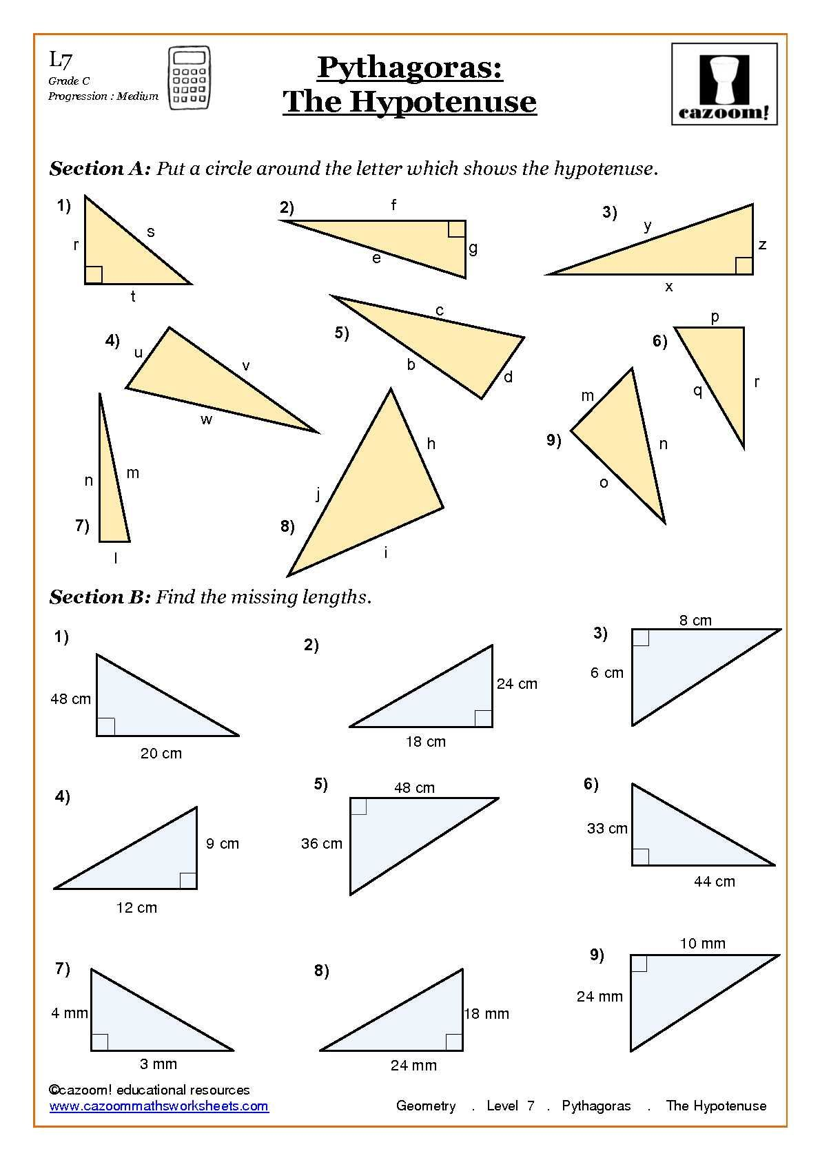 Introduction Proofs Worksheet