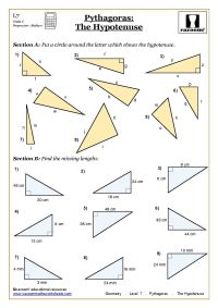 Trigonometry and Pythagoras Worksheets | Worksheets ...