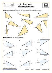 Trigonometry and Pythagoras Worksheets | Worksheets ...
