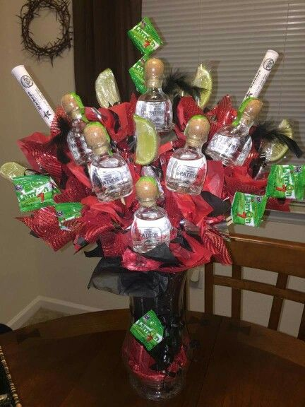 Alcohol Bouquet Gifts Cocktail Recipes Pinterest