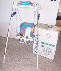 Vintage Graco Swingomatic Wind Up Crank Infant Baby Swing ...