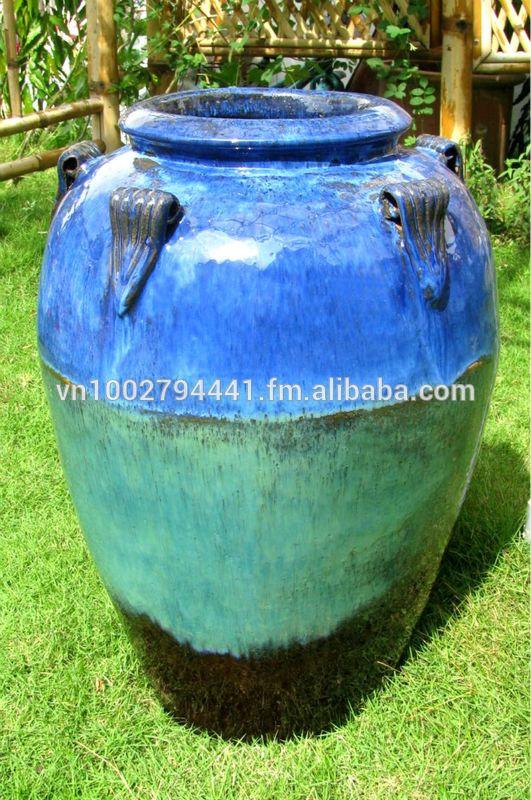 wholesale Tall Outdoor Glazed Jars Tall Temple Jar
