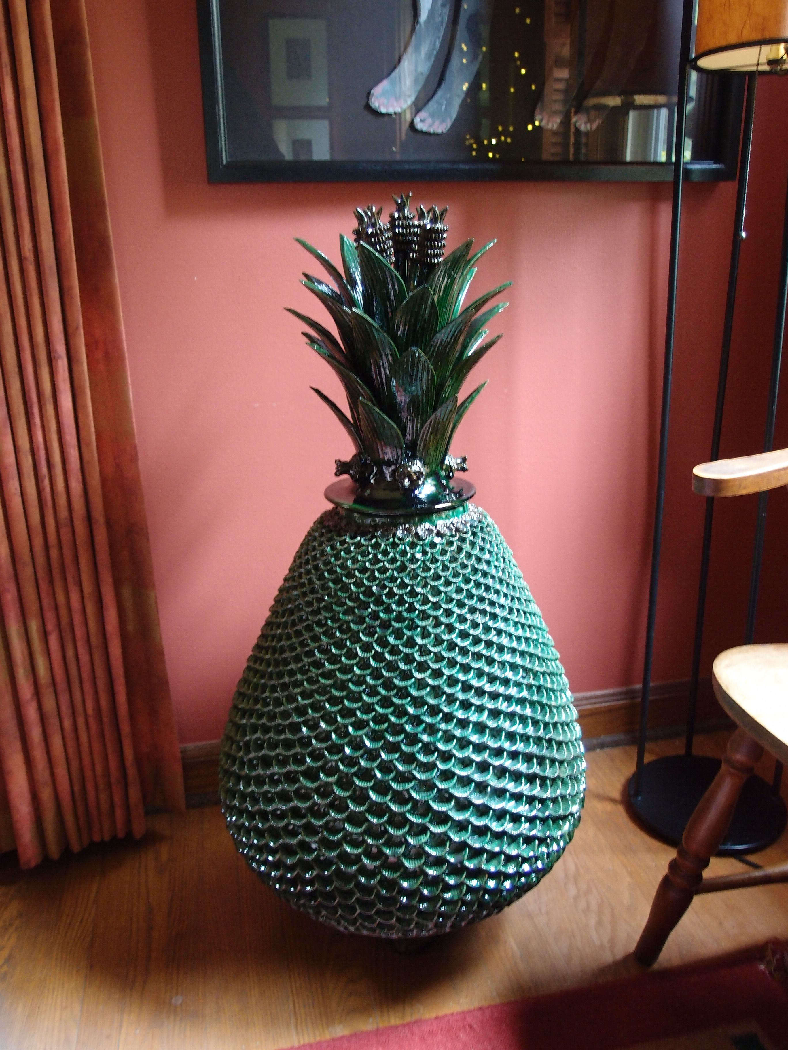 pineapple decorations for kitchen trashcans mexican decor a huge in ceramic art from