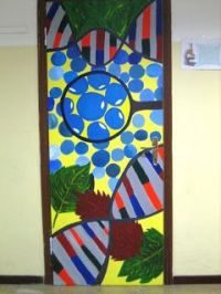 Science classroom, door decoration - have students ...