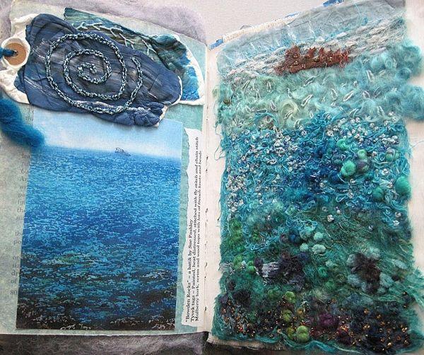 Carolyn Saxby Mixed Media Textile Art Textiles Rusty