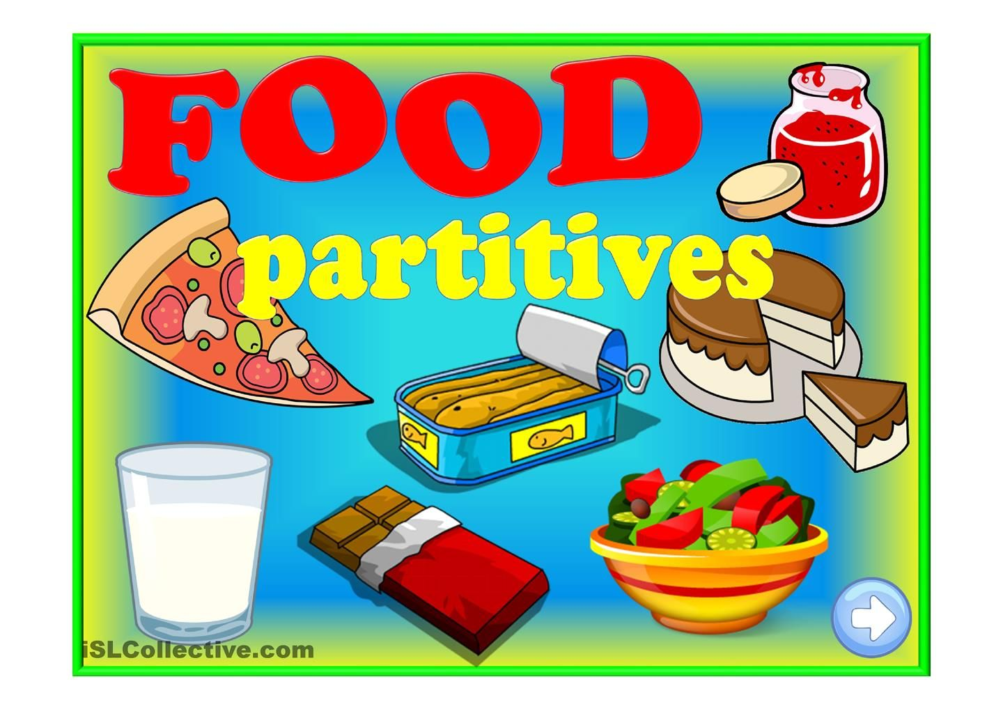 Food Partitives Game