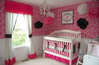 Baby Nursery. Girl Baby Nursery Ideas Use Pink Wall Cute ...