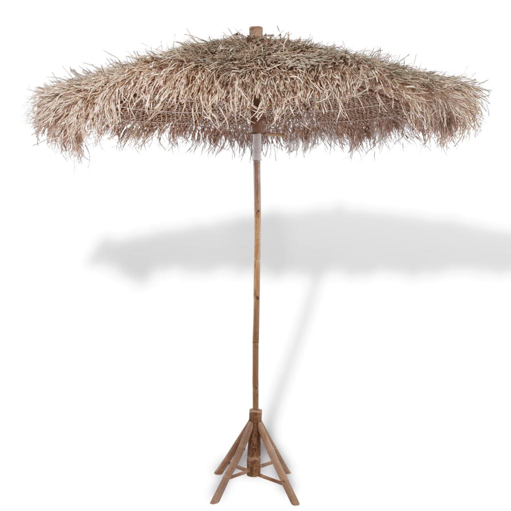 sonnenschirm aus bambus mit banenblatterdach cm