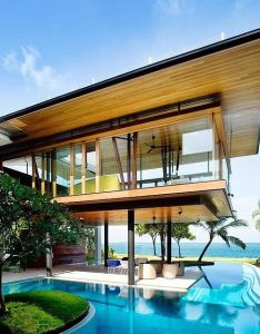 Fish house home architecture design with awesome swimming pool by guz architects in singapore  could probably manage also rh pinterest