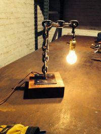 welded chain desk lamp WWW.MAKERSCHICAGO.COM   breclaimed ...