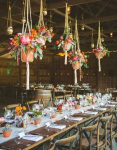 Tons ideas for rustic indoor barn wedding decoration also rh za pinterest