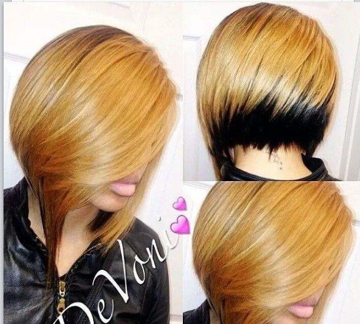 Two Tone Bob Black Hairstyles Pinterest Bobs Tones And Two