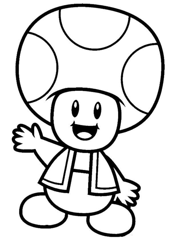 Mario ausmalbilder 03 Mario Bros party ideas Pinterest