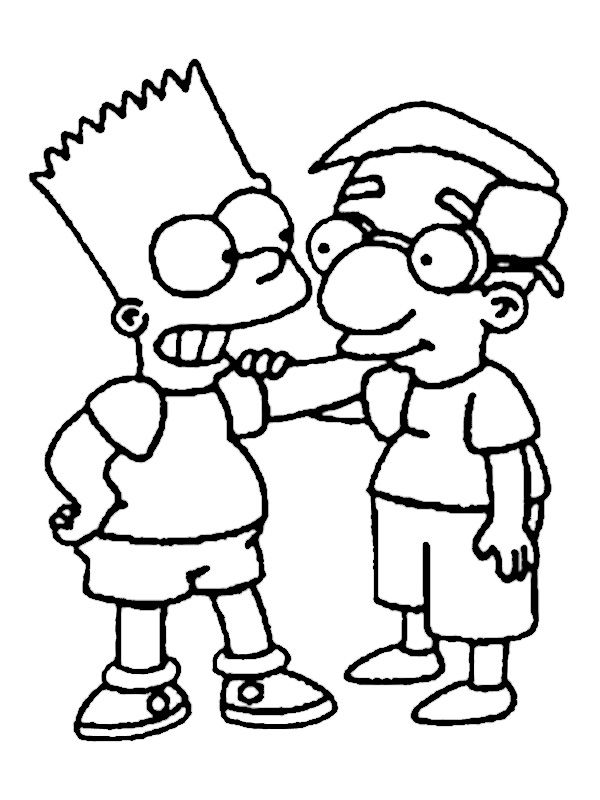 Ausmalbilder Die Simpsons 10 Kreative Jungs Pinterest