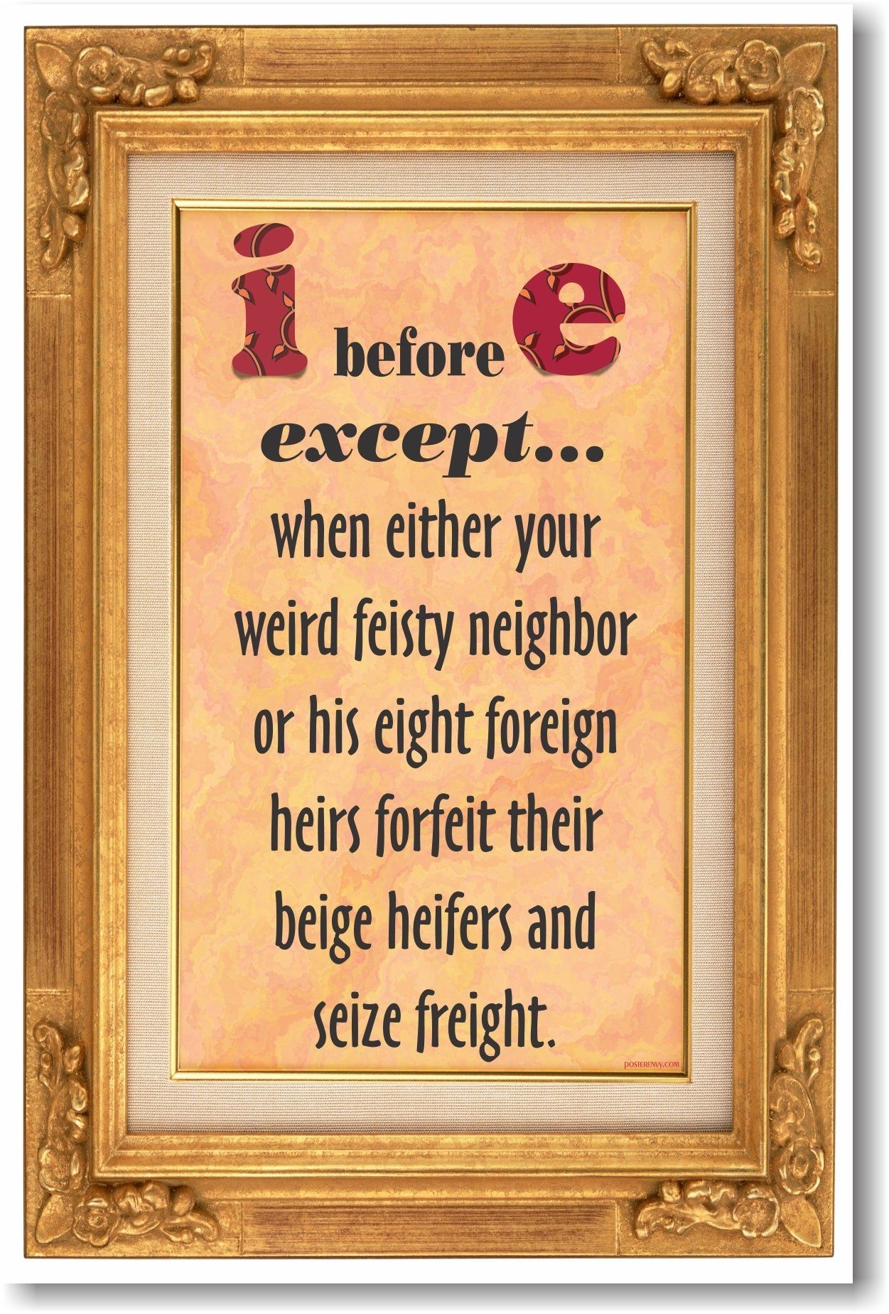 I Before E Except When Either Your Weird Feisty