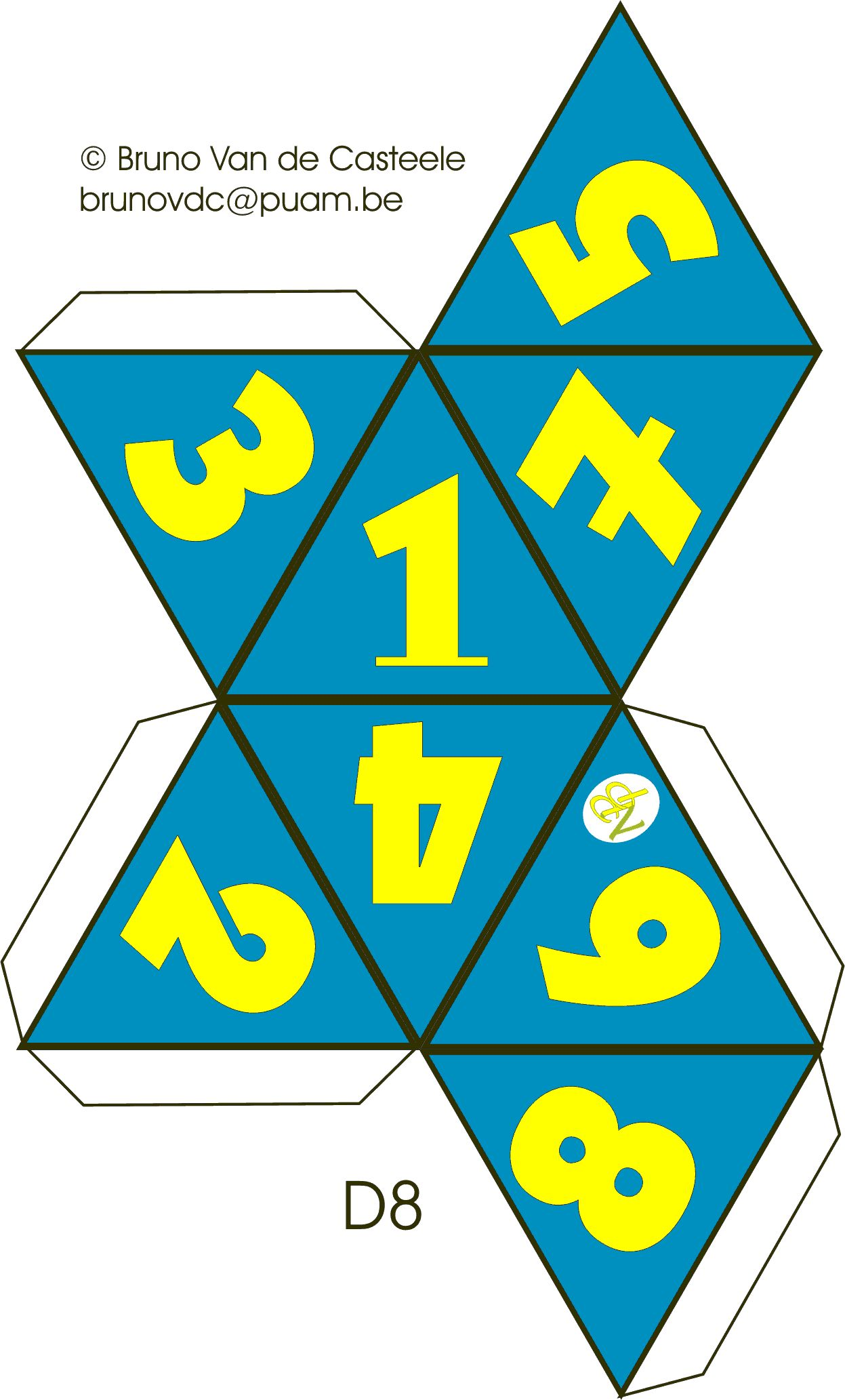 8 Sided Dice Template