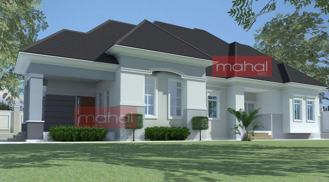 4 Bedroom Bungalow Plan In Nigeria House Plans Nigerian Design