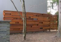 MODERN Privacy Fence Gates | This clean modern wood ...