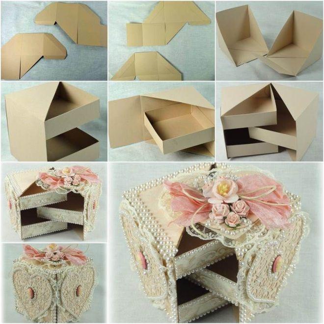 Diy beautiful gift box with hidden drawers drawers box
