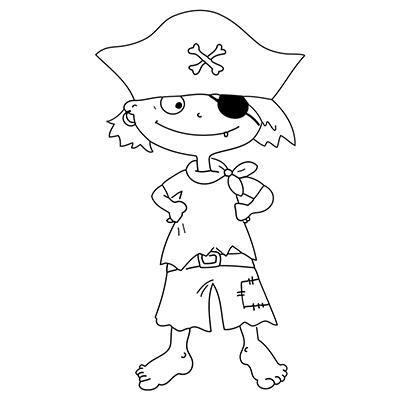 "Marabu Window Color Malvorlage ""Pirat mit Augenklappe"