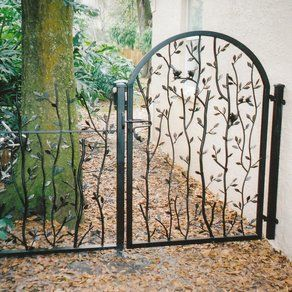 Contemporary Metal Garden Gate Winchester 4122mhigh Wrought Iron