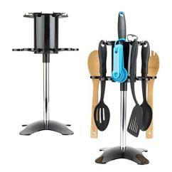Carousel Kitchen Utensil Holder Black Round Table Set Sumaclife Gadget Tree Organizer With Rotating 1 Read More