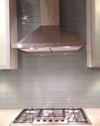 Lush Fog Bank 3x6 Gray Subway Tile Kitchen Backsplash ...